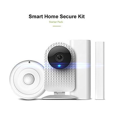 Cámara de seguridad inalámbrica con visión nocturna 720P HD de vigilancia cámara Come con detector de