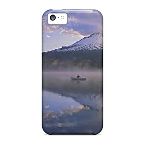 Mount Hood Fisherman On Trillium Lake Scratch-free phone cases covers fashion Protection Iphone5c iphone 5c