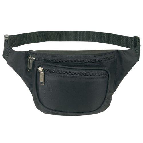 Yens® Fantasybag 3-Zipper Fanny Pack-Black, FN-03, Outdoor Stuffs