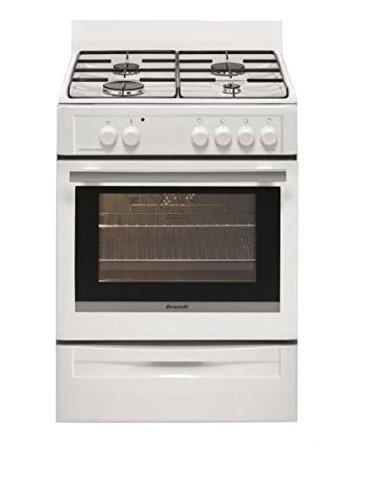 Brandt BCG6640W Cuisinière Cuisinière à gaz A Blanc four et cuisinière - Fours et cuisinières (Cuisinière, Blanc, Rotatif, 1,5 m, Cuisinière à gaz, Butane/Propane)