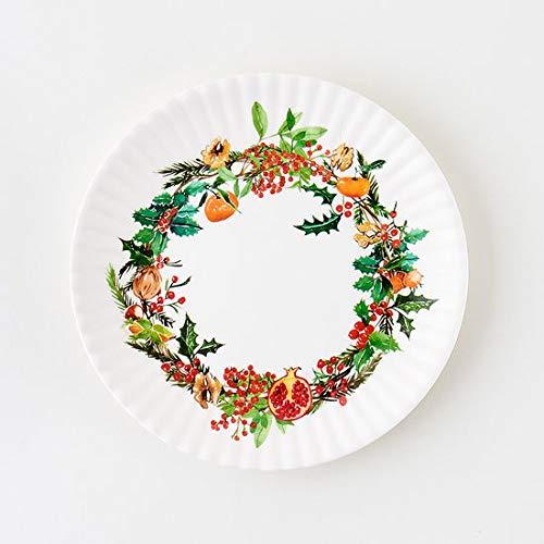 クリスマスリース メラミンプレート 4枚セット 7.5
