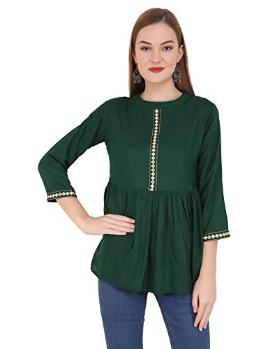 UNFAKENOW Casual 3/4 Sleeve Solid Women Top
