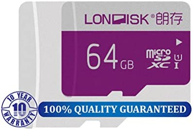 LONDISK Tarjeta Micro SD Tarjeta de memoria SDXC de 64 GB C10 U1 ...