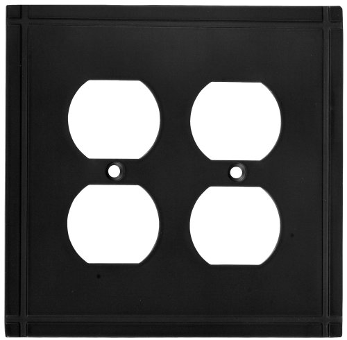 Stanley Hardware S804-161 V8072 Ranch Double Outlet plate in Oil Rubbed - Ranch Outlet