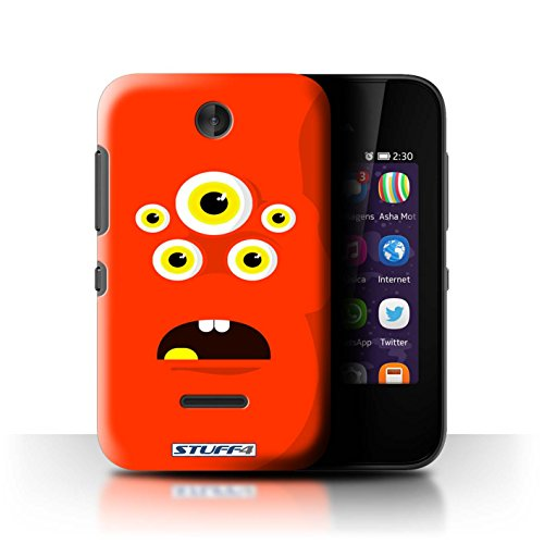 STUFF4 Phone Case / Cover for Nokia Asha 230 / Red Design / Monsters Collection
