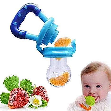 4 UNIDS Alimentador de Fruta Fresca de Alimentos Mordedor Nibbler Dentición Juguete Pezón Alimentación Chupete Bebé Suministros Juguetes