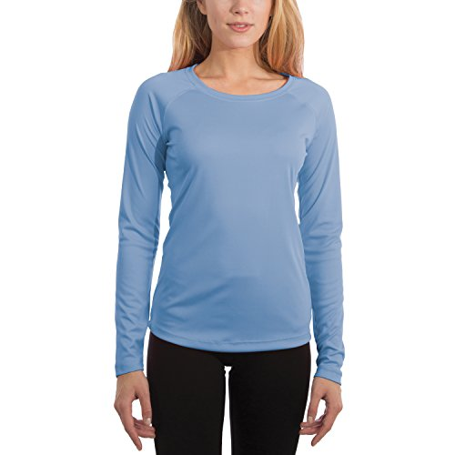 (Vapor Apparel Women's UPF 50+ UV Sun Protection Performance Long Sleeve T-Shirt Medium Columbia Blue)