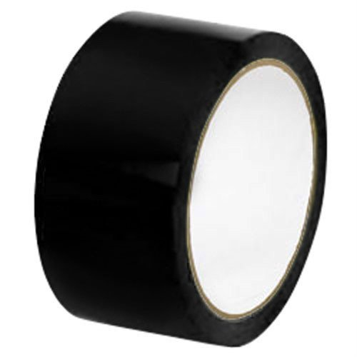 (36) 2'' x 110 Yds Black Color Packing Tape 2 Mil Shipping Packaging Tapes 36 Rls Per Case