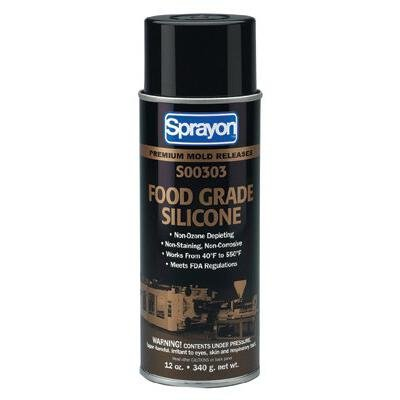 Sprayon MR303 Clear Wet Film Release Agent - 12 oz Aerosol Can [- Paintable] - Food Grade - S00303 [PRICE is per CAN] by Unknown