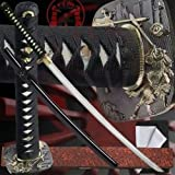 Ten Ryu MAZ-019BK Samurai Sword with Scabbard and Display Stand, 40.9-Inch Overall Review