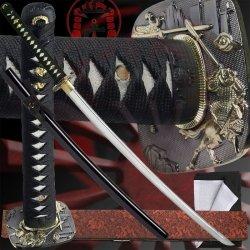 Tsuba Display - Ten Ryu MAZ-019BK Samurai Sword with Scabbard and Display Stand, 40.9-Inch Overall