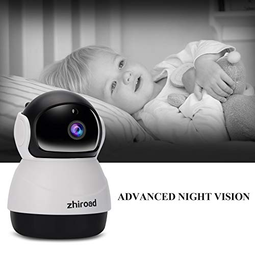 IP Camera, zhiroad 1080P Security Camera WiFi Camera Home Surveillance  Camera Baby Elder Pet Dog Monitor with Pan/Tilt Night Vision Motion  Detection