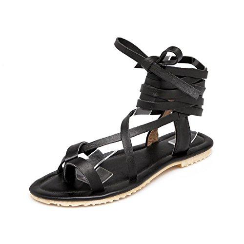 Código Mujer Toe Clip Mujer Verano Sandalias el En Mujer para Zapatos Zapatos Pulsera Black de con Sandalia Planos de Sandalias wqXv1pBS