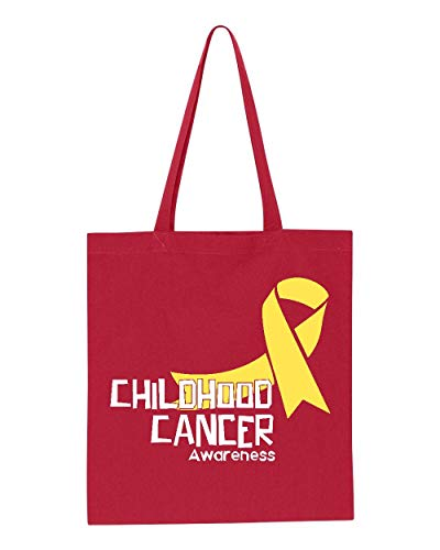 (Childhood Cancer Awareness Ribbon Tote Handbags Bags for Work School Grocery Travel)