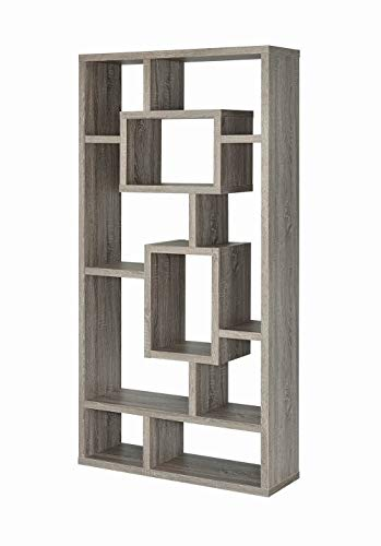 Coaster Home Furnishings Geometric Cubed Rectangular Bookcase Weathered - Kids Coaster Furniture
