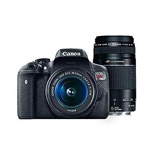 Canon Digital SLR Camera Kit [EOS Rebel T6] with EF-S 18-55mm and EF 75-300mm Zoom Lenses - Black, full-size 2
