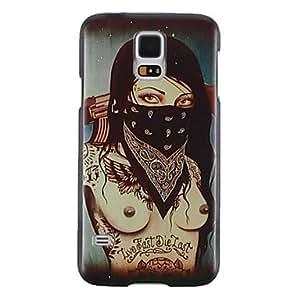 JJE The Masked Naked Beauty Plastic Hard Case for Samsung S5 I9600