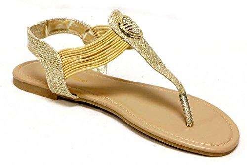 ... Metallknapp Glitter Sandaler Gull. B00S272E0W. Anna Talias-3 Klær-flip-flop  Tanga T-båndet Rundt Rhinestone Metallknapp