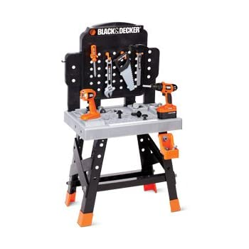 Black And Decker Junior Ready To Build Work Bench With 53 Tool And Accessories Toys