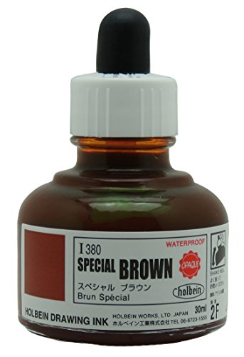 Price comparison product image Holbein Drawing Ink- Special Brown (Opaque) 1oz (30ml) Bottle