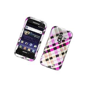 Samsung Galaxy Attain 4G R920 Pink Brown Plaid Glossy Cover Case
