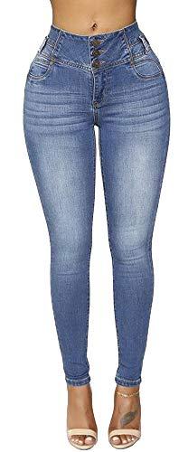 Women's High Waisted Skinny Jeans Plus Size Stretch Butt Lift Denim Pants (Stretch Denim Tank Dress)
