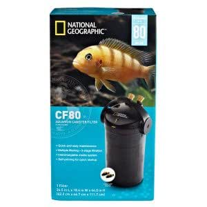 National geographic cf80 aquarium canister for Petsmart fish tank filters