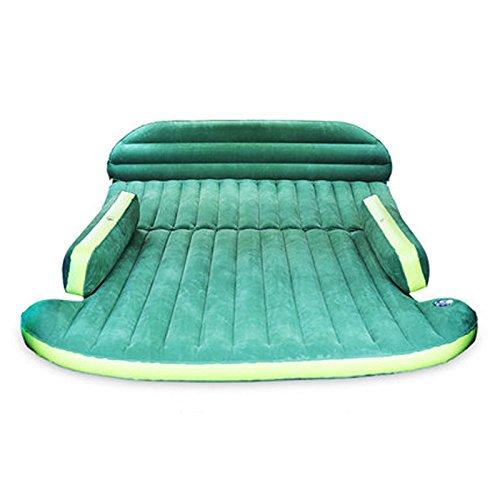 車のインフレータブルマットレストランク睡眠パッドカーショックトラベルベッド B07DSRH6G8  緑