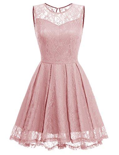 formal blush pink dress - 8