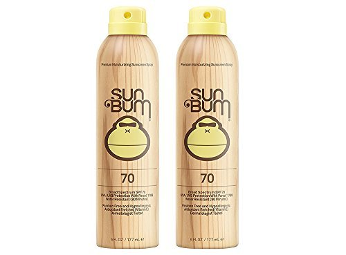 Sun Bum Continuous Spray LnjrN Sunscreen, SPF 70 (2 Pack)