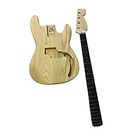 gd108 Electric Bajo Libro De Bolsillo Bricolaje guitar Kit CENIZA Cuerpo Kits Para Luthier proyectos DIVERTIDO