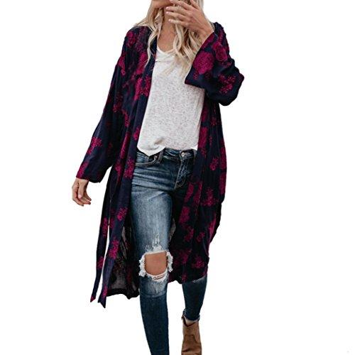 [シェレミ] レディース カーディガン 薄手 ロング シフォンブラウス 長袖 UVカット 日焼け止 涼し 冷房対策 旅行 お出かけ シンプル 爽やか トップス 模様柄