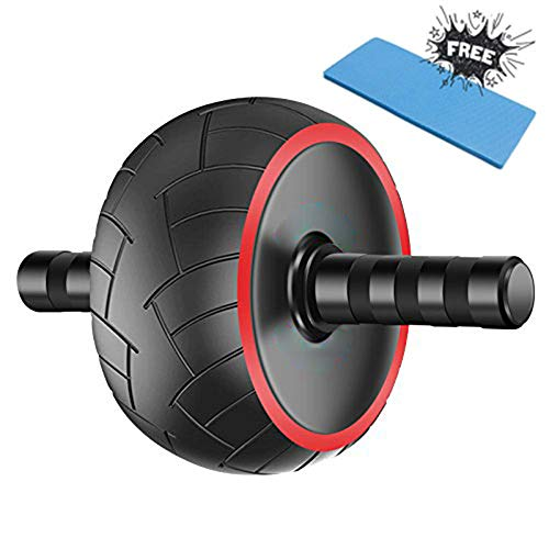 Yiomxhi Ab Roller Wheel with Knee Pad Ultra-Wide Abs Wheel Abdominal Workout Equipment Core Exercise Wheel for Man Women Gymnastics Home Gym Core Training