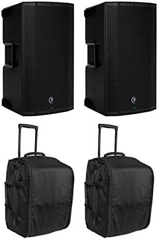 2) Mackie Thump12BST 12 1300 Watt Powered DJ PA Speakers+2) Rolling Travel Bags / 2) Mackie Thump12BST 12 1300 Watt Powered DJ PA Speakers+2) Rolling Travel Bags