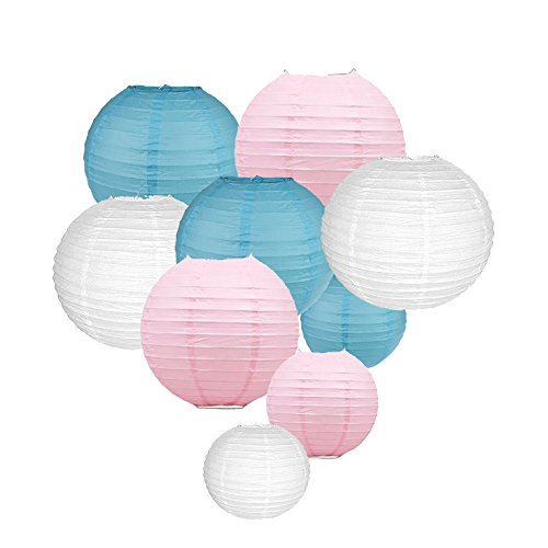 Sonnis-Paper-Lanterns-1210-8Round-lanterns-for-Birthday-Wedding-Baby-Showers-Party-Decorations-9pack-Blue
