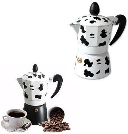 Takestop® - Cafetera con estampado de vaca, para 2 tazas, para ...