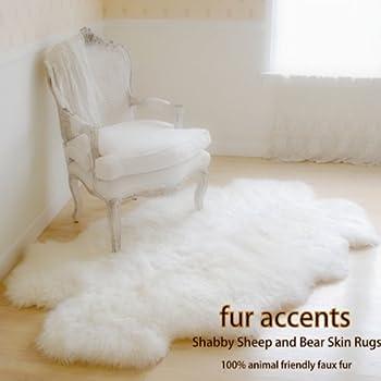 Amazon Com Fur Accents White Quatro Sheepskin Faux Fur