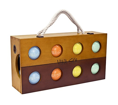 Viva Sol Premium Bocce Ball Set with Wooden Case by Viva Sol