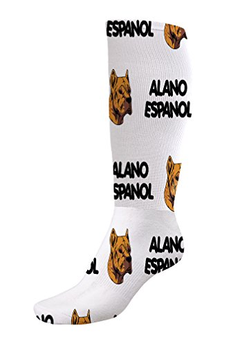 Funny Knee High Socks Alano Espanol Dog Breed Style A Tube Women & Men 1 Size 4
