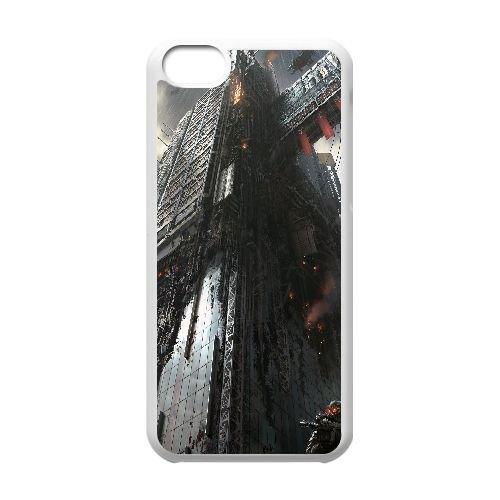 Y8E74 Killzone: Shadow Fall Y1Y6RI cas d'coque iPhone de téléphone cellulaire 5c couvercle coque blanche DM4BRB8JB