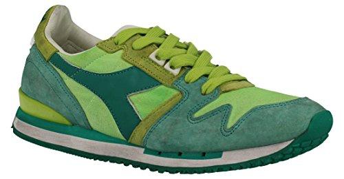 2011706100170279 Diadora Heritage Sneakers Mujer Tejido Verde Verde