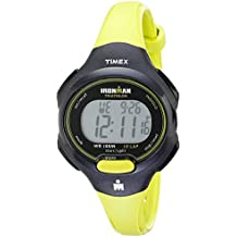 Timex Women's T5K527 Ironman Essential 10 Mid-Size Green/Black Resin Strap Watch