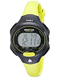 "Timex Women's T5K527 ""Ironman Traditional"" Black and Bright Green Sport Watch"