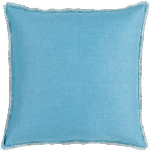Solid & Border Pillow Cover Only Square 18'' x 18'' WL-066923-S by Surya (Image #1)