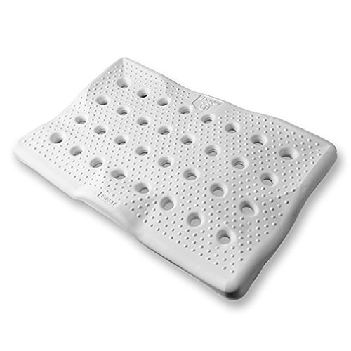 "BackJoy Bath Seat Foam Cushion, Transfer Benches, Shower Chairs, Stadium Seats, Durable EVA Foam, Slip-Resistant, Waterproof, Improves Posture, (18""x11""), White Color"