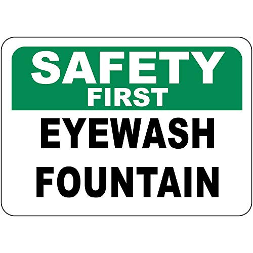 Wonderful Life A Warning Sign Metal Tin Sign - Safety First Eyewash Fountain .Industrial Commercial Sign - 12 x 8 inches