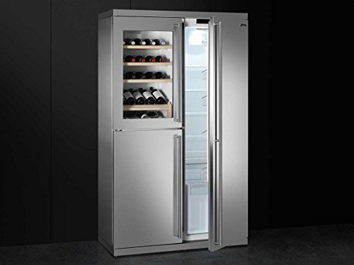 Side By Side Kühlschrank Mit Weinkühler : Smeg side by side wein kühl gefrier kombination edelstahl