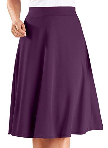 AmeriMark Womens Adult Knit Circle Skirt New Products Eggplant VqeK9MuES6