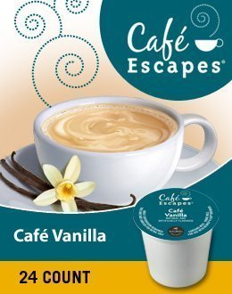 CAFE VANILLA COFFEE K CUP 96 COUNT by Caf?Escapes