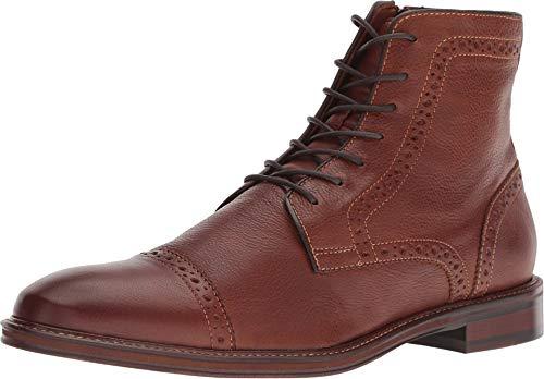 Johnston & Murphy Men's Warner Cap Toe Zip Boot Dark Tan Full Grain 11 M US ()